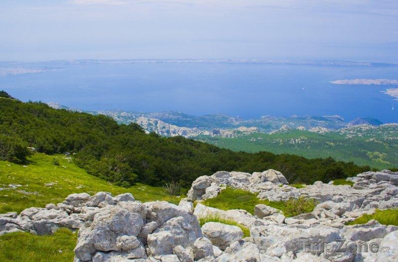 Fotka, Foto Pohled z hory na město Rab (Rab, Chorvatsko)