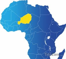 Polha Nigeru na mapě Afriky