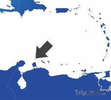 Poloha Aurby na mapě Jižní Ameriky