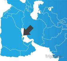 Poloha Bahrajnu na mapě Asie