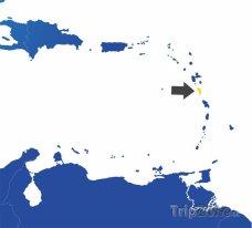 Poloha Dominiky na mapě Severní Ameriky