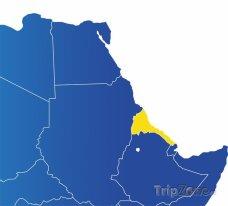 Poloha Eitrey na mapě Afriky