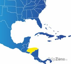 Poloha Hondurasu na mapě Severní Ameriky