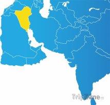 Poloha Iráku na mapě Asie