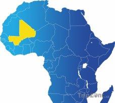 Poloha Mali na mapě Afriky