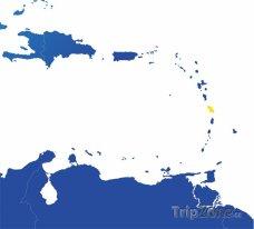 Poloha Martiniku na mapě Severní Ameriky
