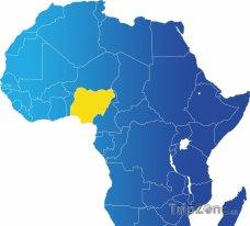 Poloha Nigérie na mapě Afriky