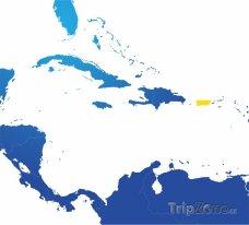 Poloha Portorika na mapě Severní Ameriky