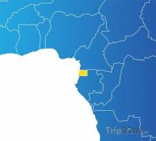 Poloha Rovníkové Guineji na mapě Afriky