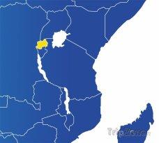 Poloha Rwandy na mapě Afriky