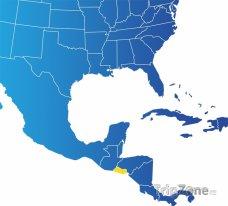 Poloha Salvadoru na mapě Severní Ameriky