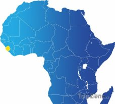 Poloha Sierry Leone na mapě Afriky