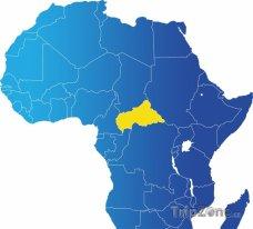 Poloha Středoafrické republiky na mapě Afriky