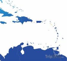 Poloha Svatého Kryštofa a Nevisu na mapě Severní Ameriky