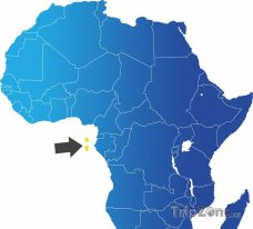 Poloha Svatého Tomáše a Princova ostrova na mapě Afriky