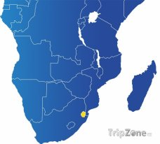 Poloha Svazijska na mapě Afriky