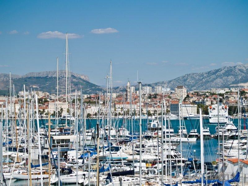 Fotka, Foto Přeplněný přístav (Split, Chorvatsko)