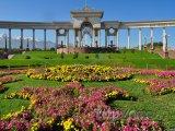Prezidentská zahrada ve městě Almaty