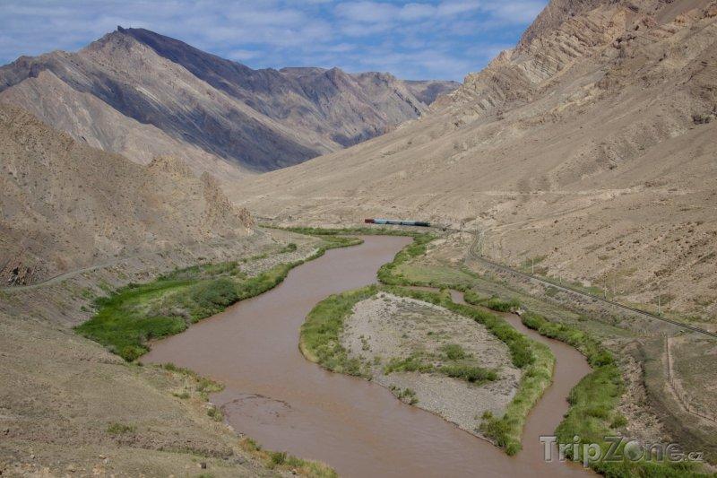 Fotka, Foto Řeka Araks, hranice s Íránem (Ázerbájdžán)