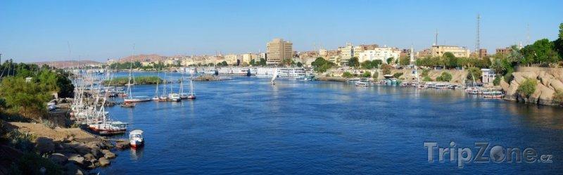 Fotka, Foto Řeka Nil v Asuánu (Asuán, Egypt)
