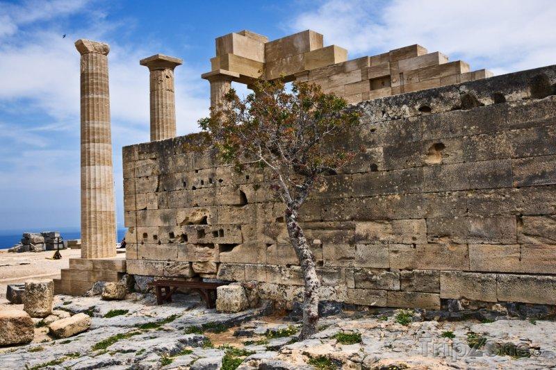 Fotka, Foto Ruiny chrámu Athény Lindské (Líndos, Řecko)