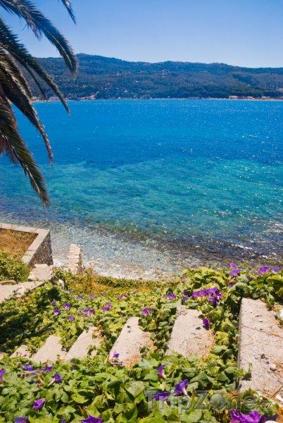 Fotka, Foto Schody na pláž (Samos, Řecko)