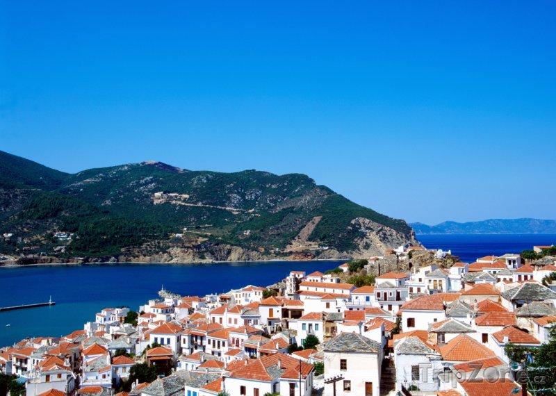 Fotka, Foto Skopelos, pohled na přístav (Řecko)
