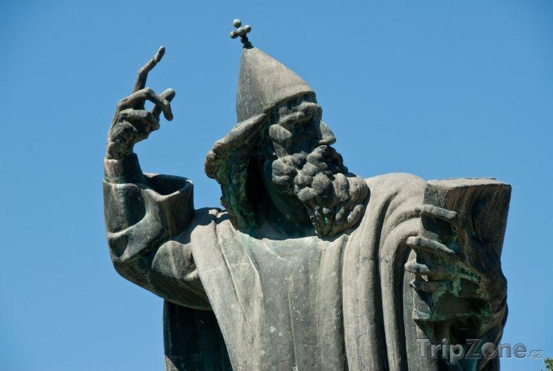 Fotka, Foto Socha biskupa Grgura Ninského (Split, Chorvatsko)