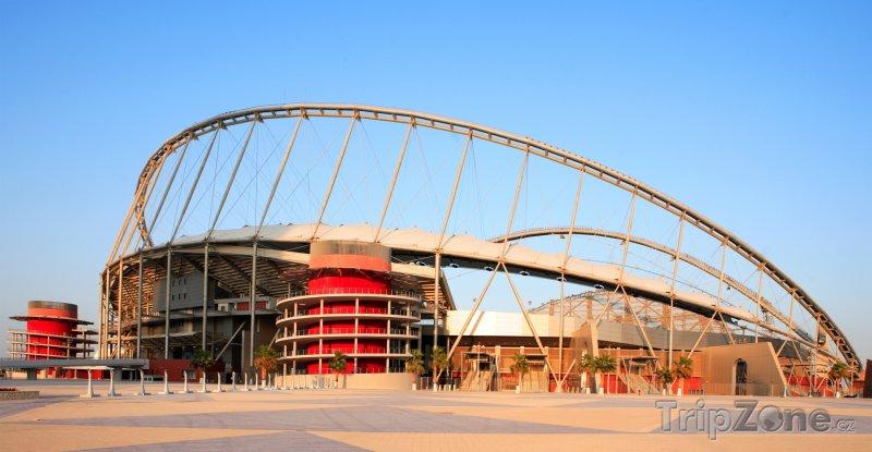 Fotka, Foto Stadion Khalifa v Dauhá (Katar)