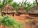 Tradiční ugandské chýše