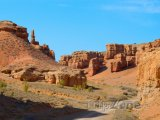 Údolí v kaňonu Charyn