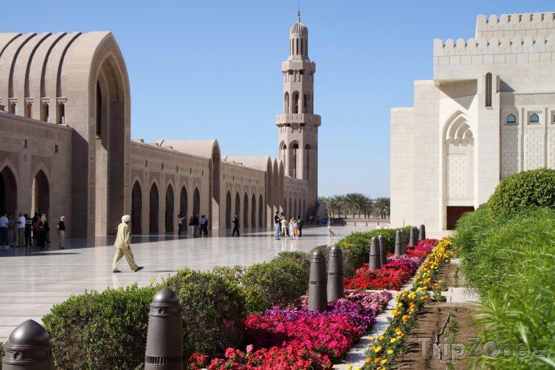 Fotka, Foto Vnitřek mešity sultána Kábuse (Omán)