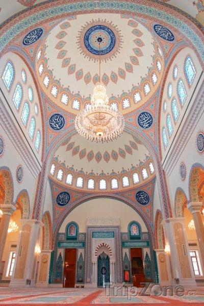 Fotka, Foto Vnitřek mešity Zawawi (Omán)
