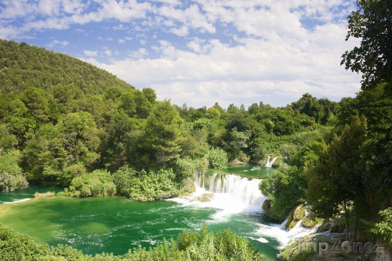 Fotka, Foto Vodopád v národním parku (Krk, Chorvatsko)
