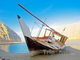 Vrak lodi na poloostrově Musandam