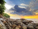 Západ slunce nad Karon Beach