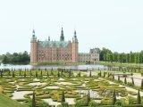 Barokní zahrada u hradu Frederiksborg