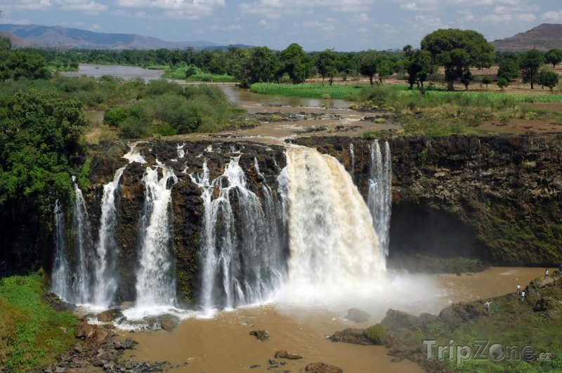 Fotka, Foto Blue Nile Falls nedaleko města Bahir Dar (Etiopie)