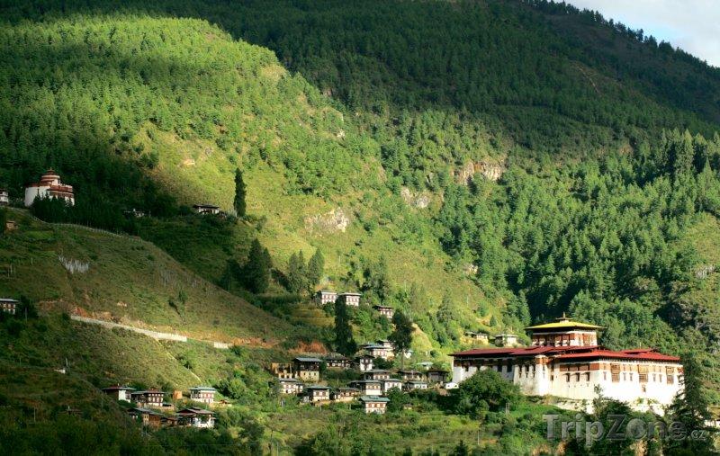 Fotka, Foto Buddhistický klášter Rinpung Dzong (Bhútán)
