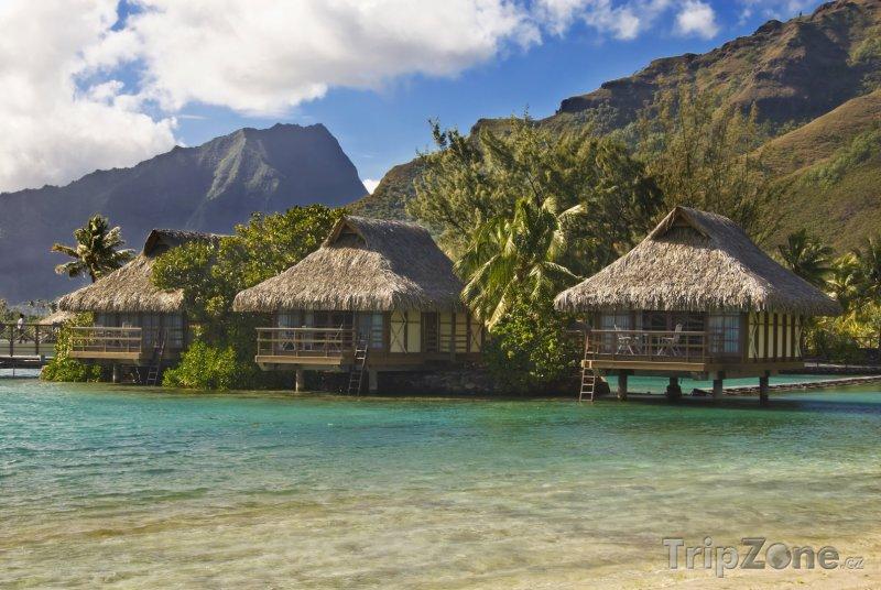 Fotka, Foto Bungalovy u ostrova Moorea (Francouzská Polynésie)