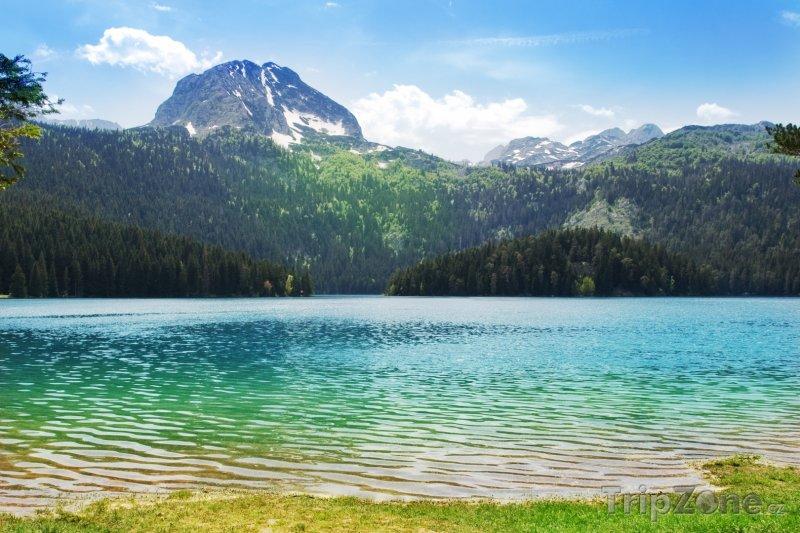 Fotka, Foto Černé jezero a pohoří Durmitor (Černá Hora)