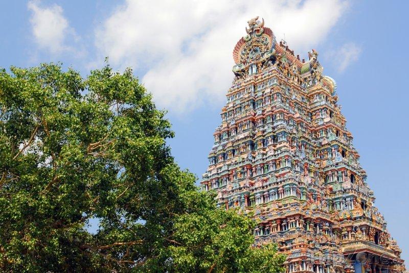 Fotka, Foto Chrám Šrí Minákší ve městě Madurai (Indie)