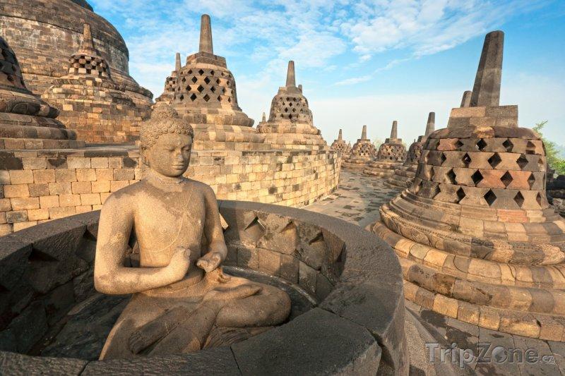 Fotka, Foto Chrámový komplex Borobudur na Střední Jávě (Indonésie)
