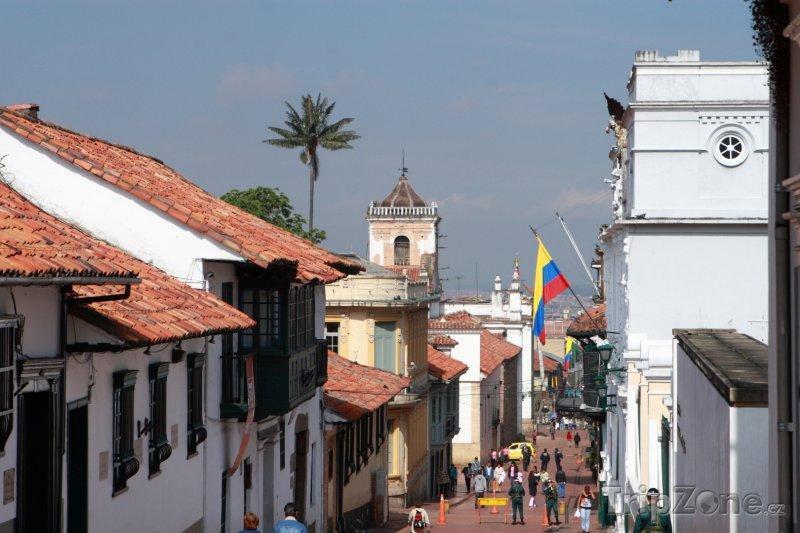 Fotka, Foto Čtvrť La Candelaria v Bogotě (Kolumbie)