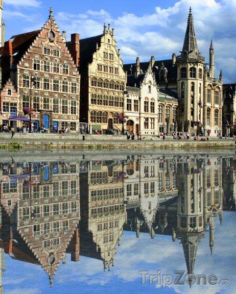 Fotka, Foto Domy podél kanálu (Gent, Belgie)