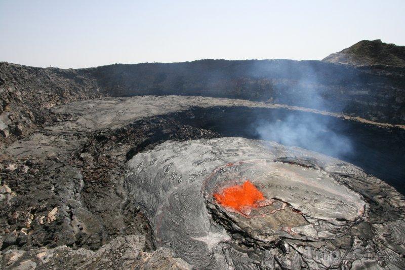 Fotka, Foto Erta Ale, činná čedičová štítová sopka (Etiopie)