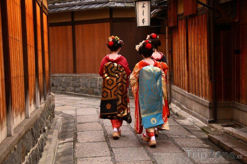 Fotka, Foto Gejši ve čtvrti Gion ve městě Kjóto (Japonsko)