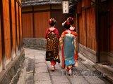 Gejši ve čtvrti Gion ve městě Kjóto