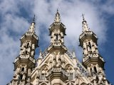 Gotická radnice v Lovani