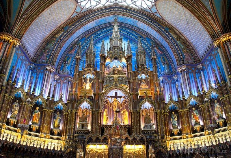 Fotka, Foto Interiér baziliky Notre-Dame v Montrealu (Kanada)